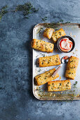 Chicken, muscat and prosciutto sausage rolls