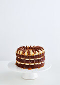 Chocolate and caramel cake with cookies (Australia)