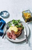 Rib-eye steak with classic béarnaise sauce