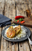 Golden Spice Chicken Breast with Escalopes sauce