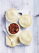 Lamb and Mushroom Pies with Mushy Peas