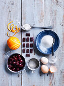 Ingredients for Black Forest Souffles