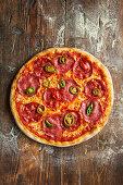 Pizza Diavolo with Salami