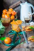 Homemade candid orange peel