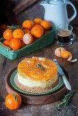 Tangerine jelly cheesecake