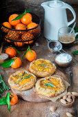 Mini almond tangerine pies