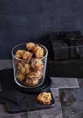 Chia and marzipan macaroons