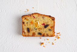 Fruit cake with candied and dried fruits
