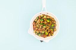 Stir-fried teriyaki pork with broccoli