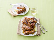 Honey and ginger ribs