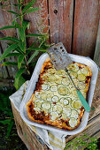 Lamb and courgette tart