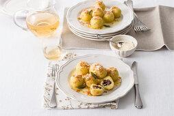 Gnocchi di susine friulani (Zwetschgenknödel, Italien)