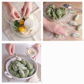 Rabatòn alessandrini (Mangold-Ricotta-Nocken, Italien) zubereiten