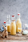 Eggnog made with oranges and tonka beans for Easter