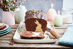 Bunny cake (chocolate cake with an Easter bunny)