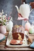 Bunny cake (chocolate cake with an Easter bunny)