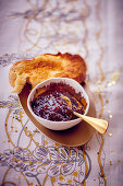 Berry jam and toast