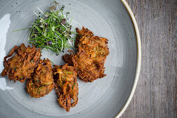 Onion bhajias (India)
