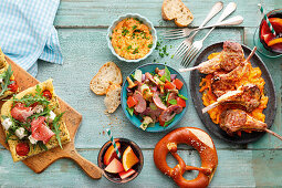 Summer dishes for a garden party