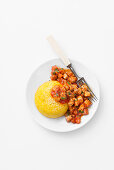 Polenta with red wine meat ragout