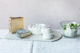 A cheese platter for brunch