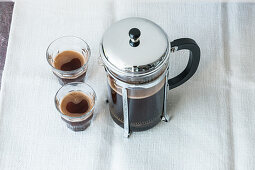 Coffee from a French press