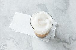 Café au lait with foam