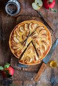 Apple pie with a honey vanilla coating