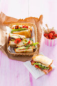 Classic BLT sandwiches with avocado
