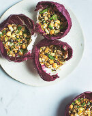San Choy Bow with eggplant