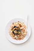 Quick risotto with seafood