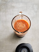 Melon and gazpacho smoothie with tomatoes, pepper and celery