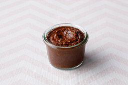 Banana and chocolate spread for little children (from 10 months)