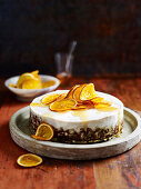 Sweet Potato Cake with Candied Orange Slices