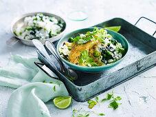 Tumeric Fish with Green Rice