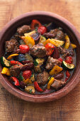Lamb tagine with dates and vegetables