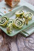 Homemade wild garlic butter rolls