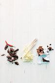 Ingredients for mousse au chocolat