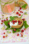 Wild strawberry tartlets