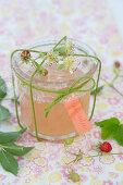 Rose jelly with wild strawberries