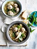 Ricotta ball and Maccaroni Soup