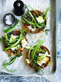 Sun-Dried Tomato Tarts and Asparagus