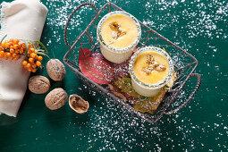 Sea buckthorn with sour cream
