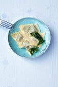 Ravioli di ricotta ai spinaci – ricotta and spinach ravioli