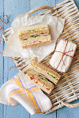 Egg, Ham, Cucmber and Cheese Sandwiches