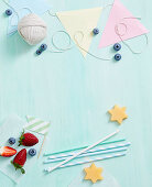Decoration and utensils for kids party