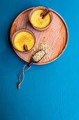 Golden hemp milk with spices
