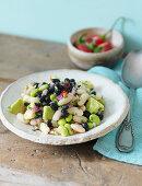 Mexican avocado and bean salad