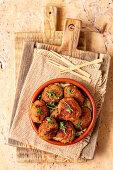 Tapas - pork croquetas with serrano ham and aioli (Spain)