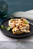 Eggplant lasagna with tomato and ricotta pesto